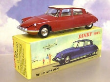 NOREV/ATLAS EDITIONS 1/43 FRENCH DINKY TOYS #530 CITROEN DS19 DS 19 MAROON/CREAM