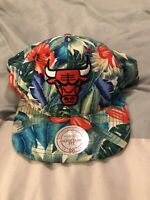Mitchell And Ness Nba Chicago Bulls Florial Hawaiian Hat Cap Snapback