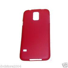 Pellicola + Custodia ROSSA Cover per Samsung Galaxy S5 G900 SLIM Sottile 0,3MM