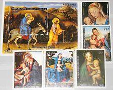 UPPER VOLTA OBERVOLTA 1973 414-18 Block 9 C129-34 Christmas Weihnachten Art MNH