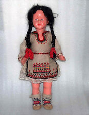 Rare Vintage Doll In Traditional Costume, Bulgaria
