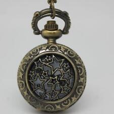 Montre De Poche ø 27mm à gousset chaîne étoiles Firmament lune Vintage Bronze