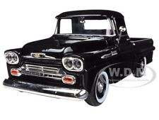 1958 CHEVROLET APACHE FLEETSIDE PICKUP TRUCK BLACK 1/24 BY MOTORMAX 79311