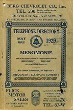 31 vintage Wisconsin TELEPHONE DIRECTORIES genealogy research MENOMONIE WI --DVD