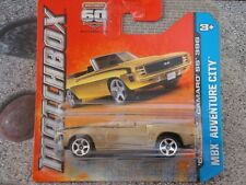 Matchbox 2013 # 016/120 1969 Chevy Camaro Ss 396 Oro Mbx Adventure City