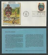 """# 1834-1837 NORTHWEST INDIAN MASKS Colorano """"Silk"""" Cachet, 1980 First Day Covers"""