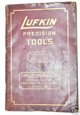 LUFKIN PRECISION TOOLS Book CATALOG No.7 #RB164 rule measuring tools Micrometers
