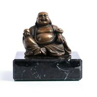 Bronze Buddha on a solid marble base. Art Sculpture, Gift, Sculpture, Ornament.