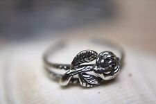 Beautifully Detailed Assorted Floral Styles Flower Sterling Silver Toe Ring