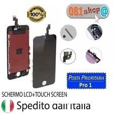 TOUCH SCREEN FRAME VETRO LCD DISPLAY RETINA SCHERMO PER APPLE IPHONE 5S NERO