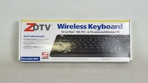 NEW BOXED ZOOM ZDTV WIRELESS MINI KEYBOARD TOUCH PAD  UK LAYOUT SPECIAL KEYS