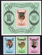 Barbuda MNH 1981 sg572-75 Royal Wedding