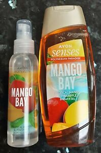 Avon Mango Bay Shower Gel And Scented Spritz Set - Pineapple And Mango- New
