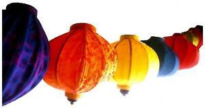 Vietnamese Oriental Silk Bamboo Handcrafted Lantern Lamp GLOBE or BALLOON 3 size