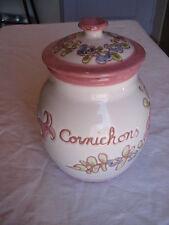 Pot à cornichon en céramique fait main