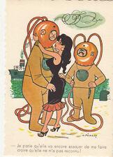 Carte postale HUMORISTIQUE HUMOUR PICHARD scaphandrier ...