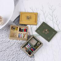 1:12 Miniatur Vintage Nähkästchen mit Deckel Puppenhaus Deko-Accessoire  Pj
