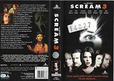 SCREAM 3 (2000) vhs ex noleggio