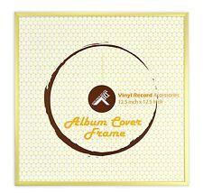 Golden State Art, 12.5 x 12.5 Aluminum Vinyl Record Cover Frame (Gold)