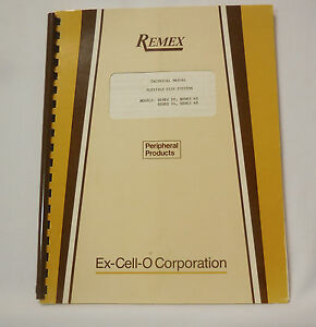 "REMEX Peripheral Products Flexible Disk Systems Manual 8"" Dual Disk Drive"