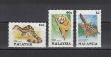 TIMBRE STAMP 3 MALAYSIE Y&T#312-14 FAUNE ANIMAL NEUF**/MNH-MINT 1985 ~A96