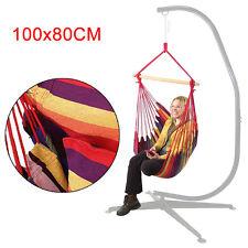 100*80cm Swinging Hanging Garden Home Fabric Hammock Chair inc solid wood stick