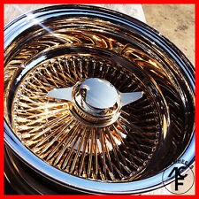 13x7 rev 100 spoke wire wheel **ALL GOLD CENTER** super discount