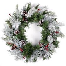 Weihnachts- Kränze, Girlanden und Pflanzen in Silber