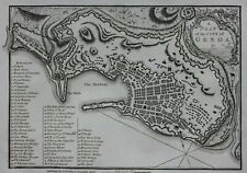 GENOA original antique city plan / map, J. Andrews, J. Stockdale, published 1800