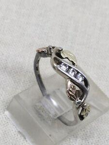 Sterling Silver 12K Black Hills Gold Ring SZ 6.5 -1.6g (7-28)