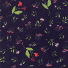 """MODA FABRIC """"THE FRONT PORCH""""  NAVY   37541 17 QUILTING SEWING 100% COTTON"""