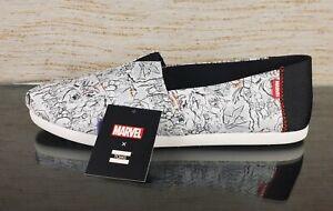 TOMS X MARVEL Avengers Mens Classic Size 14 Limited Edition Vegan Ortholite Shoe