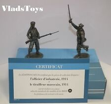 Atlas 1/24 Campaigns 1914-18 WW1 Infantry Officer & Moroccan Soldier 2595-010