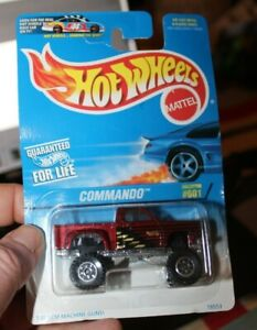 Hot Wheels #601 1996 New in Pack Bronze Commando Off Road Pick-up Truck