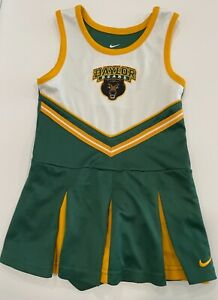 NIKE Baylor University BAYLOR BEARS 4T toddler girls cheerleader 2-piece uniform