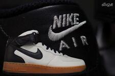 Nike Air Force 1 Mid '07 TXT UK 9.5 EU44.5 Light Bone Black White RRP£140.00