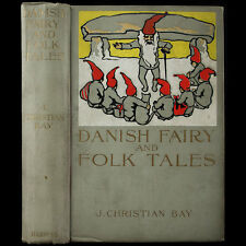 1899 DANISH FAIRY TALES FINE BINDING ELF FOLK GOBLINS GHOSTS GNOME FANTASY MAGIC