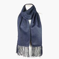(Dark Blue) Alpaca Wool Blend Unisex Scarf. Alpaca Scarf by INKITA