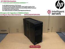 HP Z840 Workstation, Xeon 2x E5-2650 v3, 192GB DDR4, 2x 512GB SSD, Quadro K4200