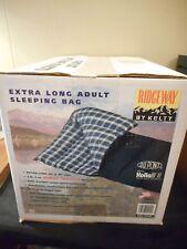 "NEW Ridgeway by Kelty extra long sleeping bag 33"" by 79"" 25 degree"