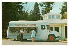 POSTCARD NEW ZEALAND LIBRARY SERVICE VAN VINTAGE C.1960