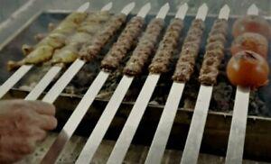Skewers Flat Extra Wide 15MM Extra Long 60CM Kebab Grill Skewer Wood Handle 4PCS