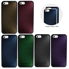 Carbon Fibre Effect Bumper Case for Apple iPhone 5 5s SE 6s 7 8 Plus X XR XS Max