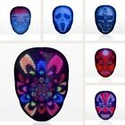 Halloween LED Mask Party Masquerade Neon Horror Glowing Electronic Display Mask