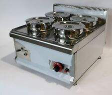 LPG GAS Commercial Wet BAIN MARIE with TAP  4x7L Round Pots - GAS  2018