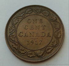 1917 Canada 1 One Cent Bronze Coin