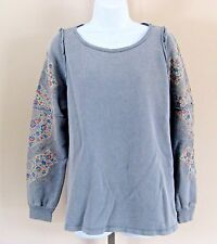 Urban Outfitters Project Social T Size L Blue Cotton Long Sleeve Knit Top