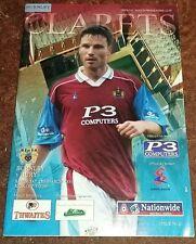 Burnley v Bury Division 1 - Saturday 25th March 2000 MINT