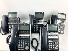 Lot Of 5 Nec Itl-24D-1(Bk)Tel 690004 Ilv(Xd)Z-Y(Bk) Dt700 Series Ip Phone/Stand