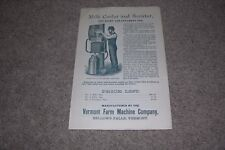 Bellows Farm Machine Company Vermont/VT Milk Cooler Flyer/Price List